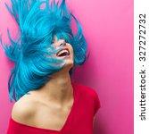 studio portrait of a sexy... | Shutterstock . vector #327272732