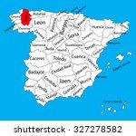 lugo map  spain province vector ... | Shutterstock .eps vector #327278582