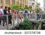 new york city   may 16  2015 ... | Shutterstock . vector #327278738