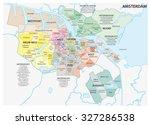 amsterdam administrative map | Shutterstock .eps vector #327286538