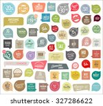 sale labels collection | Shutterstock .eps vector #327286622