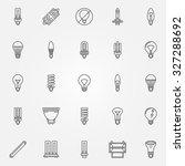 light bulbs icons set   vector... | Shutterstock .eps vector #327288692