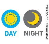 sun and moon in sky  day and... | Shutterstock .eps vector #327295562