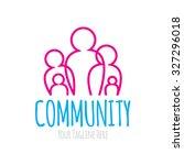 community logo   Shutterstock .eps vector #327296018