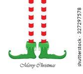 vector creative merry christmas ... | Shutterstock .eps vector #327297578