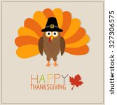 happy thanks giving vector.... | Shutterstock .eps vector #327306575