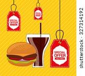 delicious food design  vector... | Shutterstock .eps vector #327314192