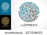 labyrinth abstract. puzzle... | Shutterstock .eps vector #327318425