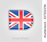 united kingdom flag button ... | Shutterstock .eps vector #327322196