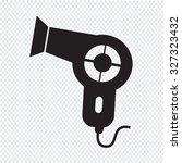 hair dryer icon | Shutterstock .eps vector #327323432
