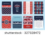 christmas and new year set.... | Shutterstock .eps vector #327328472