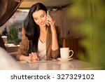 pretty young business woman in... | Shutterstock . vector #327329102