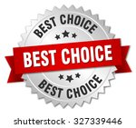 best choice 3d silver badge... | Shutterstock .eps vector #327339446