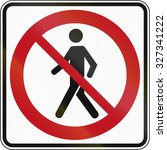 canadian traffic sign   no... | Shutterstock . vector #327341222