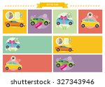 set of cars concepts. car loan... | Shutterstock . vector #327343946