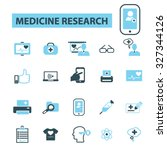 medicine research icons | Shutterstock .eps vector #327344126