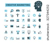 creative marketing icons | Shutterstock .eps vector #327344252
