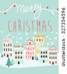 christmas greeting card | Shutterstock .eps vector #327354596