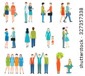 people in various lifestyles ... | Shutterstock .eps vector #327357338