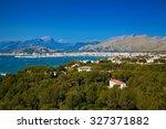 aerial view of port de pollenca ... | Shutterstock . vector #327371882