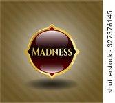 madness shiny badge | Shutterstock .eps vector #327376145