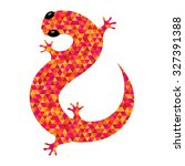 salamander icon filled with... | Shutterstock . vector #327391388