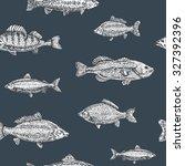 vintage marine pattern. hand... | Shutterstock .eps vector #327392396