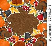 happy thanksgiving day... | Shutterstock .eps vector #327401045