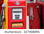 Red Vintage Gasoline Pump.