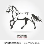 horse. vector illustration. | Shutterstock .eps vector #327409118