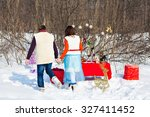 christmas table and holiday... | Shutterstock . vector #327411452