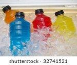 Stock photo sports energy drinks on ice 32741521