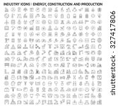 industry icons  energy ... | Shutterstock .eps vector #327417806