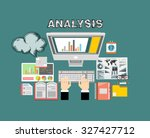 concepts for business planning... | Shutterstock .eps vector #327427712