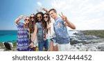 summer holidays  vacation ... | Shutterstock . vector #327444452