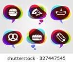 food and lunch on colorful... | Shutterstock .eps vector #327447545