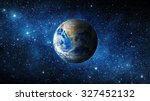 earth and galaxy. elements of... | Shutterstock . vector #327452132