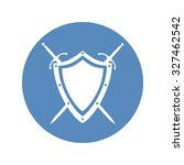 shield and two crossed swords... | Shutterstock .eps vector #327462542
