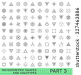 set of 100 geometric shapes.... | Shutterstock .eps vector #327463886