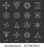 set of geometric shapes. trendy ... | Shutterstock .eps vector #327467012