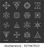 set of geometric shapes. trendy ...   Shutterstock .eps vector #327467012