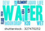 water word cloud on a white...   Shutterstock .eps vector #327470252