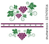grapevine vector   Shutterstock .eps vector #327470516