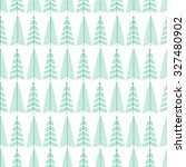 forest trees seamless pattern.... | Shutterstock .eps vector #327480902