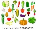 assorted farm vegetables set... | Shutterstock .eps vector #327486098