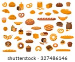 bakery and pastry products... | Shutterstock .eps vector #327486146