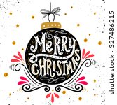 merry christmas retro poster...