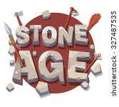 stone age writing with... | Shutterstock .eps vector #327487535