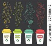 Sorting Of Garbage. Vector...