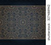 vector ornate seamless border... | Shutterstock .eps vector #327488942